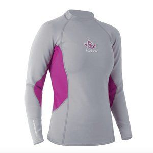 NWT NRS HydroSkin 0.5mm LS Wetsuit Grey Pink / XS
